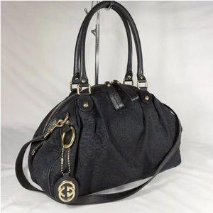 Authentic Gucci Monogram Black Bowling Satchel Bag